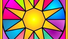 Stained Glass Sun Isis