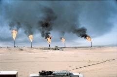 Burning Oil Stacks