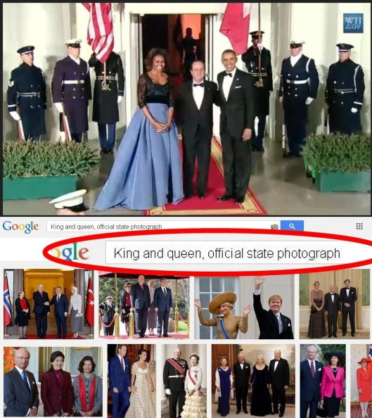 King Obama and Queen Michelle