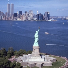 Statue of Liberty and WTC Towers