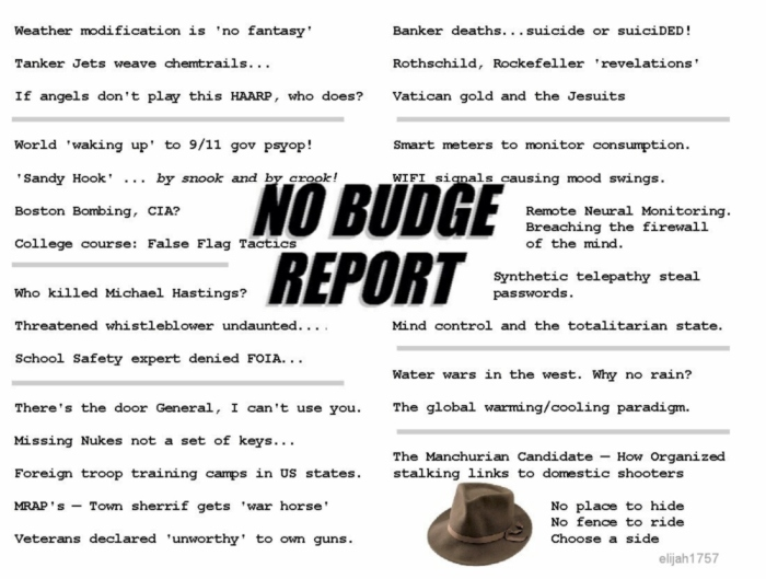 NO BUDGE REPORT
