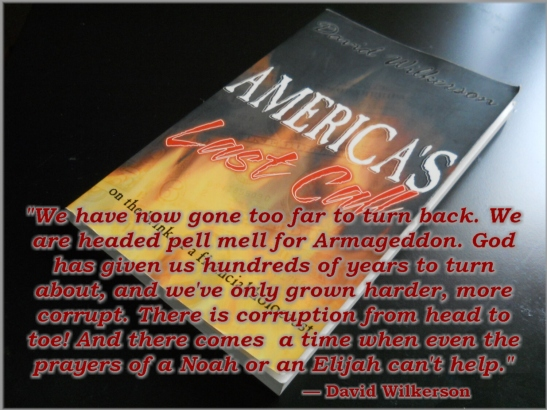 This book, AMERICA'S LAST CALL - On The Brink of Financial Holocaust by David Wilkerson was published in 1998. As the title says, this was our last call. The subtitle being of a financial nature is compelling to this hypothesis of a stock market crash around 17570.00 mark. Though we may be too little, too late to stop what is about happen, we can get a few ideas of what to expect by reading AMERICA'S LAST CALL online at: http://www.realcountrylife.com/americas_last_call.pdf.