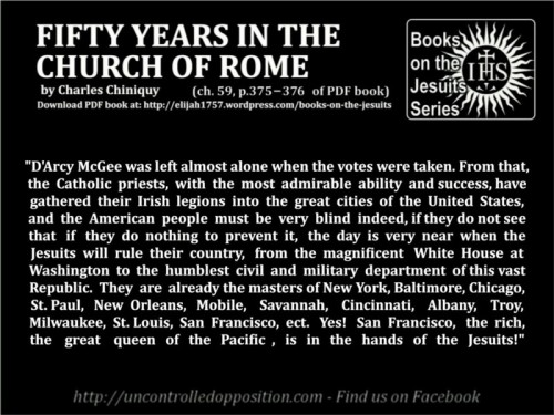 Fifty Years in the Church of Rome - Jesuits rule America