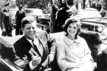 John F. Kennedy and Jackie Kennedy Dallas, Texas - 22.11.63  This is a PR photo. WENN does not claim any Copyright or License in the attached material. Fees charged by WENN are for WENN's services only, and do not, nor are they intended to, convey to the user any ownership of Copyright or License in the material. By publishing this material, the user expressly agrees to indemnify and to hold WENN harmless from any claims, demands, or causes of action arising out of or connected in any way with user's publication of the material. Supplied by WENN.com  Featuring: John F. Kennedy and Jackie Kennedy When: 22 Nov 1963 Credit: WENN