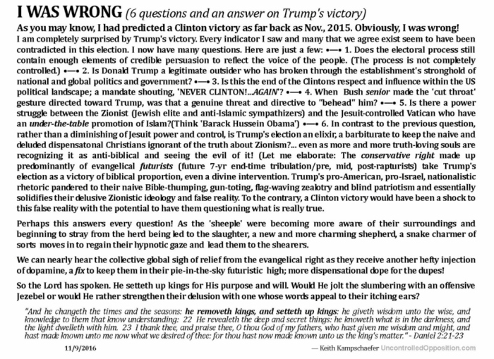 6 questions on Trump victory