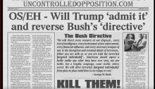 bush directive and trump