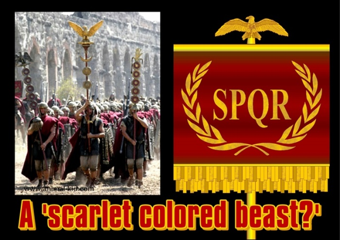 Scarlet colored beast is Rome